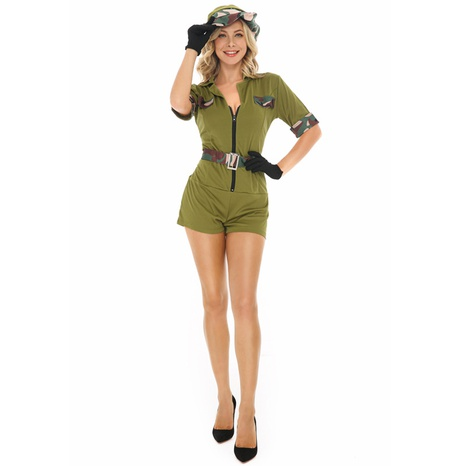 Instructor de cosplay de halloween mono con cremallera verde militar al por mayor nihaojewelry NHFE415687's discount tags