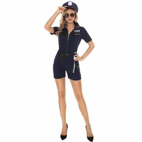 Fiesta de halloween cosplay mujer policía mono azul oscuro al por mayor nihaojewelry NHFE415693's discount tags