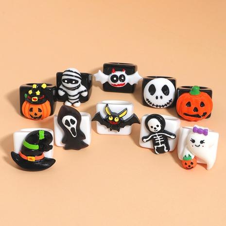 vintage creative pumpkin skull ring Halloween decoration wholesale nihaojewelry NHJQ421712's discount tags