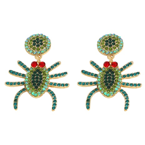 Halloween creative funny alloy diamond spider earrings wholesale Nihaojewelry  NHJQ421842's discount tags