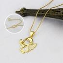 fashion new zirconium heart angel copper necklace wholesale nihaojewelry NHBP421877