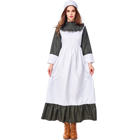 retro dark green kitchen girl costume wholesale Nihaojewelry  NHFE422117's discount tags