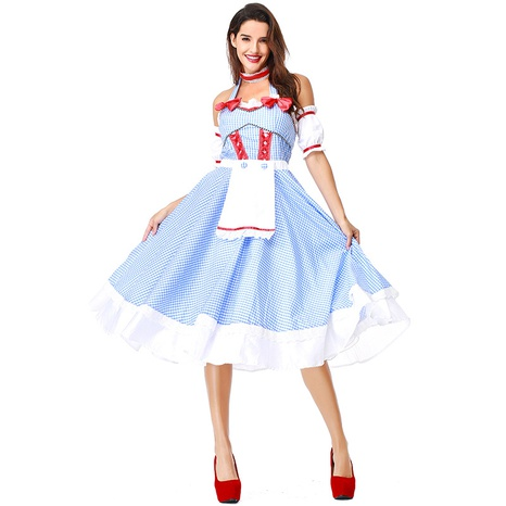 Halloween party cosplay The Wizard of Oz Dorothy costume maid skirt wholesale nihaojewelry  NHFE422118's discount tags