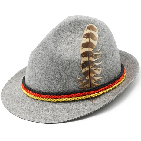 Halloween Beer Jazz Feather Hat Wholesale Nihaojewelry NHFE422122's discount tags