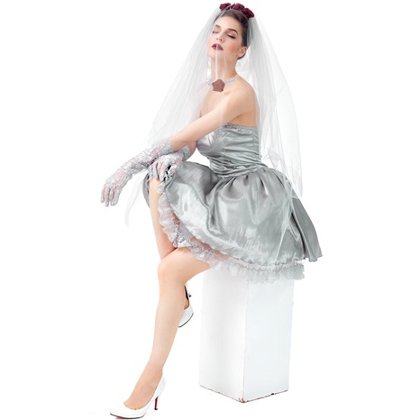 Halloween ghost bride party dress wholesale Nihaojewelry NHFE422127's discount tags
