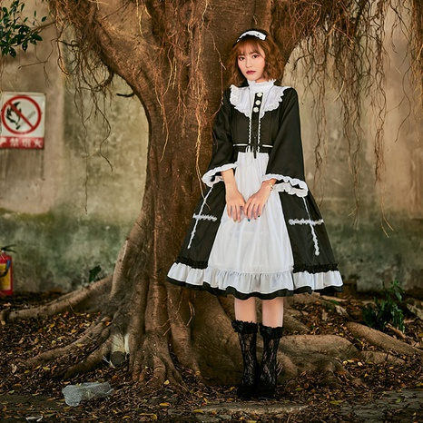 Halloween costume cosplay maid witch Lolita cross pettiskirt wholesale nihaojewelry  NHFE422135's discount tags