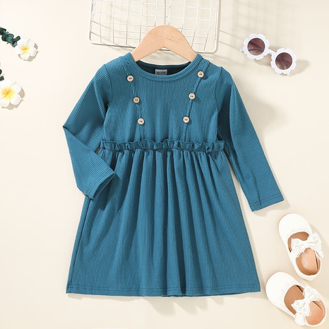 simple long-sleeved solid color children's skirt wholesale Nihaojewelry NHLF422149's discount tags
