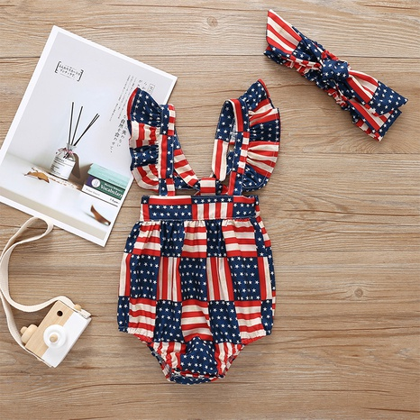 baby color sleeveless one-piece romper wholesale Nihaojewelry NHLF422162's discount tags