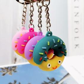 Cute donut simulation food pendant keychain wholesale Nihaojewelry NHYOU422318