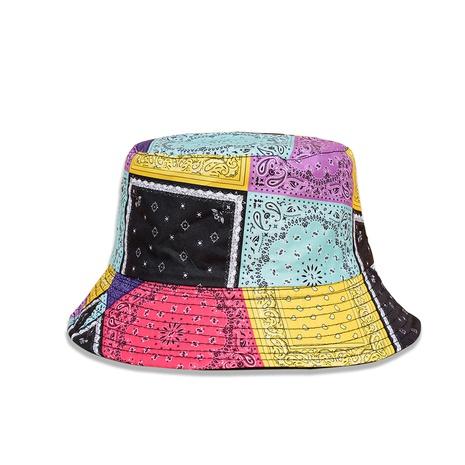 Mode Spleißen kollidierende Farbe Blume doppelseitige Fischerhut Großhandel Nihaojewelry NHTQ422472's discount tags