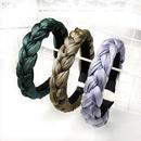 fashion solid color woven sponge headband wholesale Nihaojewelry NHOF422653