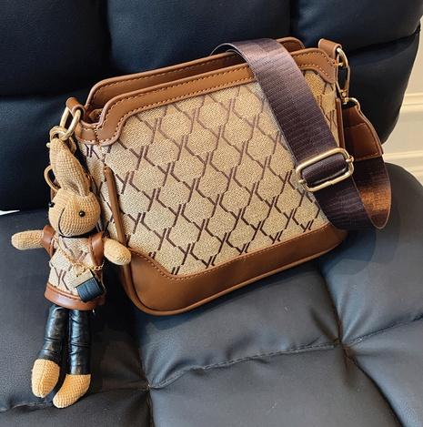 fashion contrast color plaid denim small square shoulder bag wholesale nihaojewelry NHLH422764's discount tags