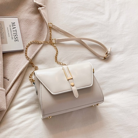 fashion solid color chain shoulder square bag wholesale nihaojewelry NHLH422807's discount tags