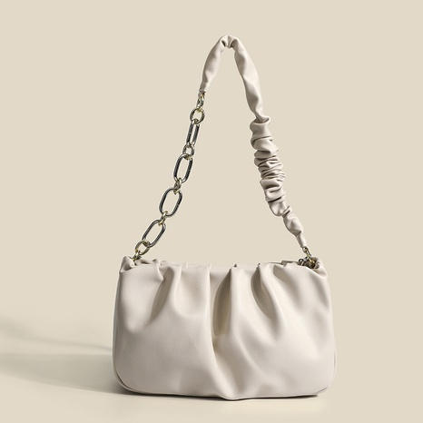 solid color fold cloud chain shoulder bag wholesale Nihaojewelry NHASB422892's discount tags