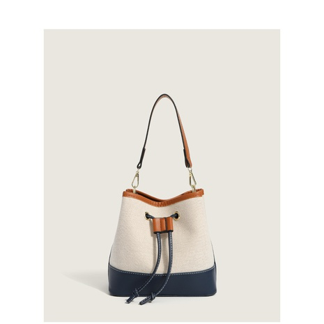 fashion color splicing portable bucket bag wholesale Nihaojewelry NHASB422896's discount tags