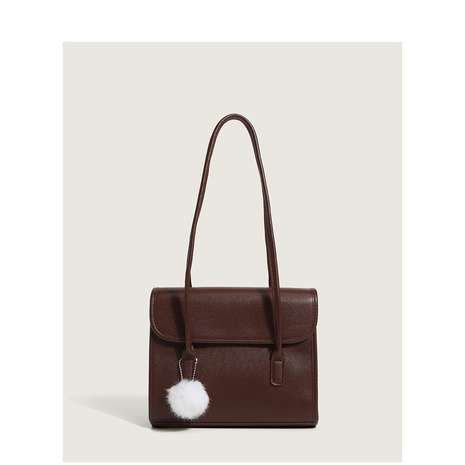 simple coffee color square underarm bag wholesale Nihaojewelry NHASB422901's discount tags