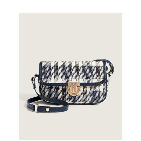 retro plaid pattern messenger bag wholesale Nihaojewelry NHASB422903's discount tags