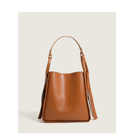 retro brown large-capacity bucket bag wholesale Nihaojewelry NHASB422905's discount tags