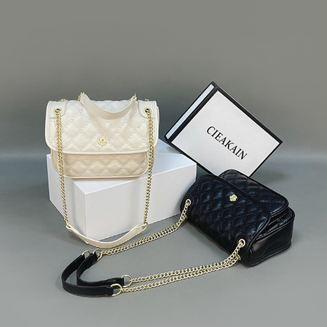 retro large-capacity rhombic chain shoulder messenger bag wholesale Nihaojewelry NHASB422907's discount tags