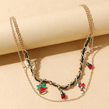 kreative doppellagige geometrische Weihnachtshalskette Großhandel Nihaojewelry NHPS423490's discount tags