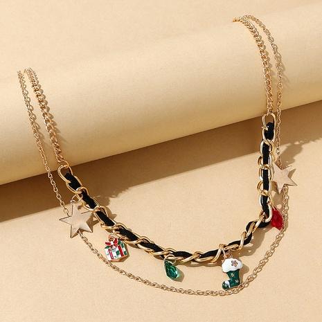kreatives Weihnachtsgeschenk Weihnachtsstiefel hängende doppelte Halskette Großhandel Nihaojewelry NHPS423488's discount tags