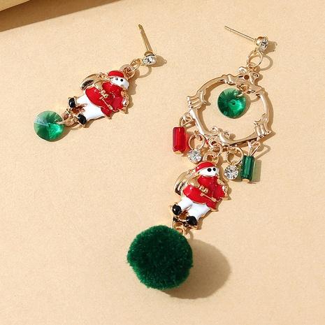 einfache Weihnachtsmann asymmetrische Legierungsohrringe Großhandel Nihaojewelry NHPS423408's discount tags
