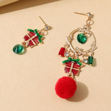 kreative Weihnachtsgeschenk-Asymmetrielegierungsohrringe Großhandel Nihaojewelry NHPS423407's discount tags