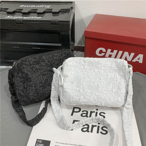 Large-capacity solid color folded messenger bag wholesale Nihaojewelry  NHJZ422974's discount tags