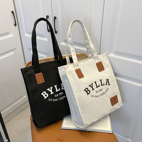 new trendy large capacity letter printing portable tote bag wholesale Nihaojewelry  NHJZ422981's discount tags