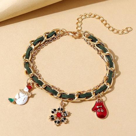 Mode kreative Weihnachtsschneepuppe Anhänger geflochtenes Armband Großhandel Nihaojewelry NHPS423392's discount tags