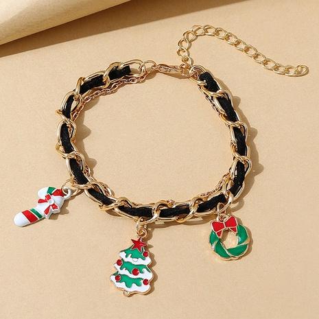 Weihnachtsbaum Weihnachtskranz Anhänger geflochtenes Armband Großhandel Nihaojewelry NHPS423391's discount tags
