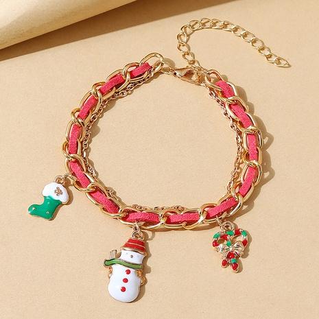 Weihnachtsserie kreative Weihnachtsschneepuppenstiefelarmband Großhandel Nihaojewelry NHPS423390's discount tags