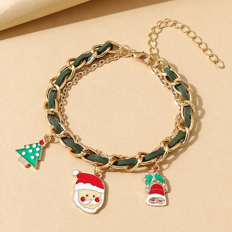 Weihnachtsserie einfaches Weihnachtsmann-Armband Großhandel Nihaojewelry NHPS423389's discount tags