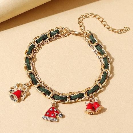 Weihnachtsserie kreative Weihnachtsmütze hängende Legierung Armband Großhandel Nihaojewelry NHPS423387's discount tags