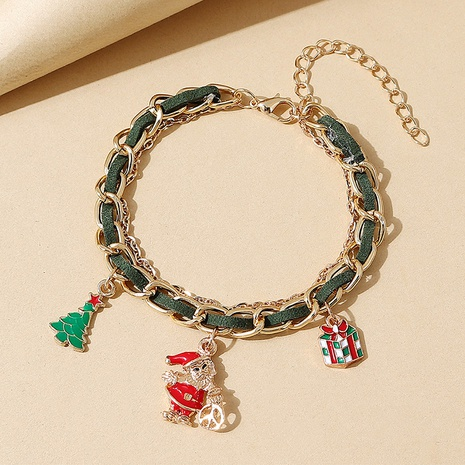Weihnachtsserie kreativer Weihnachtsmann Anhänger geflochtenes Armband Großhandel Nihaojewelry NHPS423386's discount tags