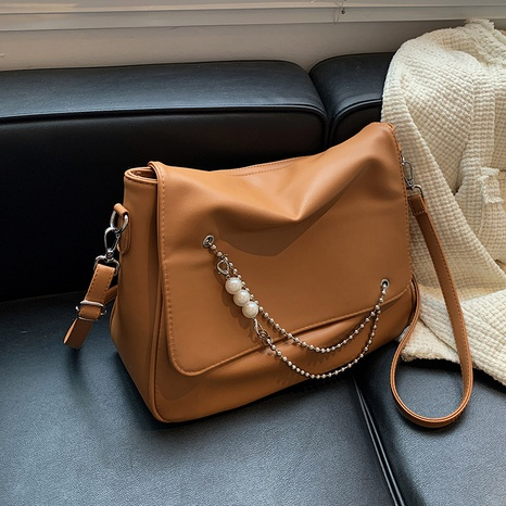new trendy beads chain decoration solid color shoulder bag wholesale Nihaojewelry  NHGN423104's discount tags