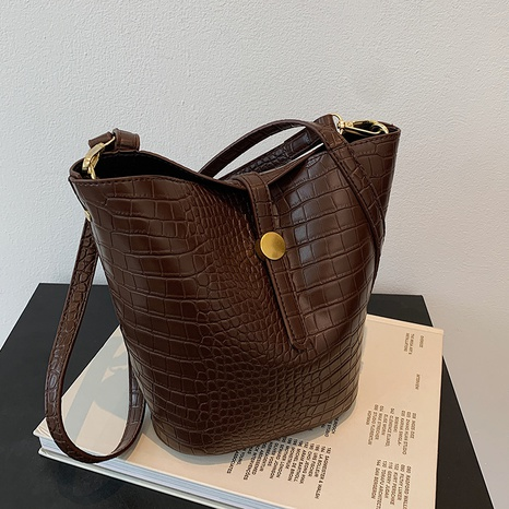 new fashion crocodile pattern one-shoulder bucket bag wholesale Nihaojewelry  NHGN423106's discount tags