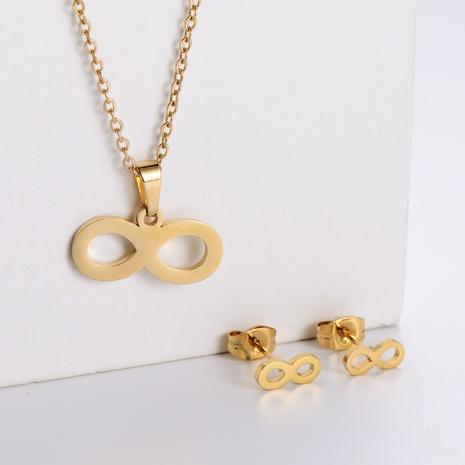 Einfache Schweinsnase Schlüsselbein Kette Ohrringe Set Großhandel Nihaojewelry NHON423976's discount tags
