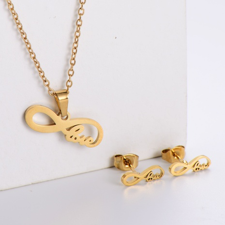 Einfache Schleife Schlüsselbeinkette Ohrringe Set Großhandel Nihaojewelry NHON423982's discount tags
