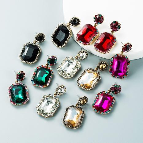 Retro-Legierung diamantfarbene Strassohrringe Großhandel Nihaojewelry NHLN423998's discount tags
