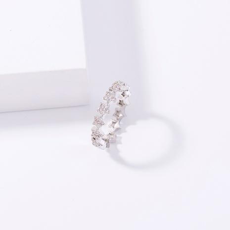 moda estrella de cinco puntas apertura de encaje anillo de circón con incrustaciones de cobre ajustable al por mayor nihaojewelry NHDB424195's discount tags