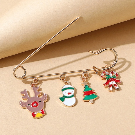 Broche de pin de muñeco de nieve de alce serie navideña al por mayor nihaojewelry NHPS424913's discount tags