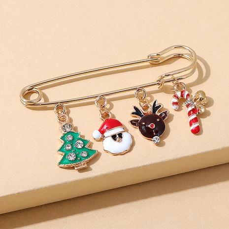 Serie navideña árbol Papá Noel broche al por mayor nihaojewelry NHPS424908's discount tags
