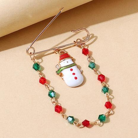 Broche de cadena cystal de color de muñeca de nieve de serie navideña al por mayor nihaojewelry NHPS424907's discount tags