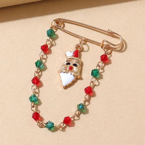 Serie navideña Papá Noel color broche de cadena cystal al por mayor nihaojewelry NHPS424906's discount tags