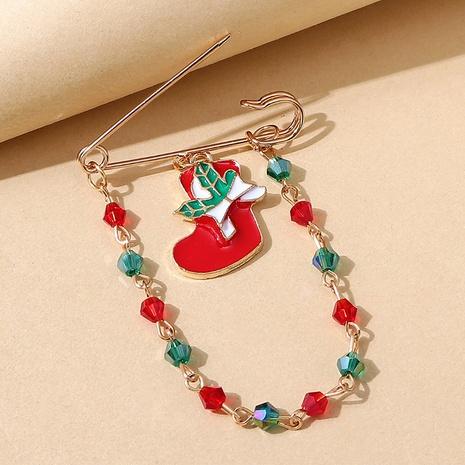 Broche de cadena cystal de color de arranque de la serie navideña al por mayor nihaojewelry NHPS424905's discount tags