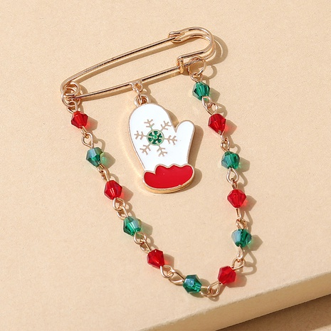 Broche de cadena cystal de color de guante de la serie navideña al por mayor nihaojewelry NHPS424904's discount tags