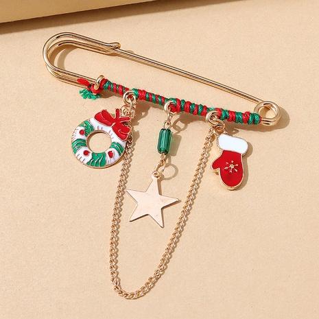 Serie navideña guante estrella cadena pin broche al por mayor nihaojewelry NHPS424902's discount tags