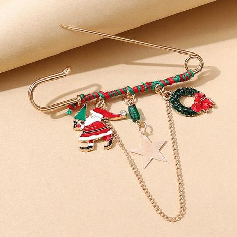 Serie navideña Papá Noel broche de cadena al por mayor nihaojewelry NHPS424901's discount tags