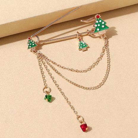 Serie de navidad árbol color cystal cadena borla pin broche al por mayor nihaojewelry NHPS424899's discount tags